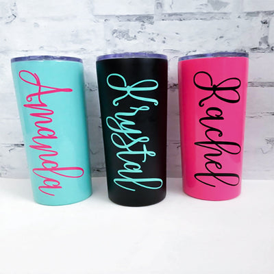 Personalized tumbler cup with name including straw and lid  | Tumblers
