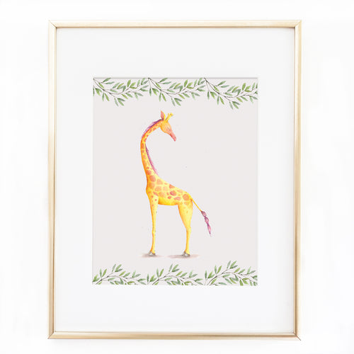 8x10 Watercolor Giraffe Nursery Printable Sweet Willow Studio