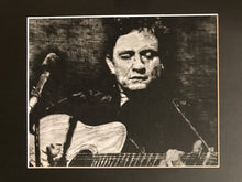 """Johnny Cash"" print, small"