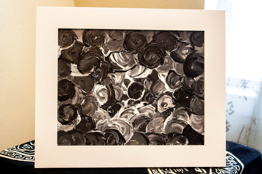 Petal Series - Black and white