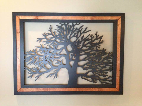 Tree with Wood Border