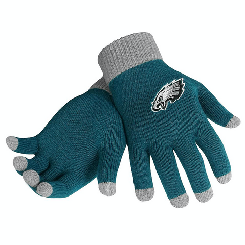 NFL Philadelphia Eagles Knit Gloves with Texting Tips