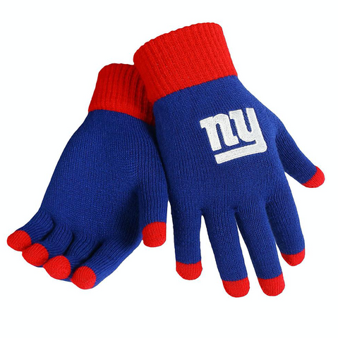 NFL New York Giants Solid Knit Gloves with Texting Tips