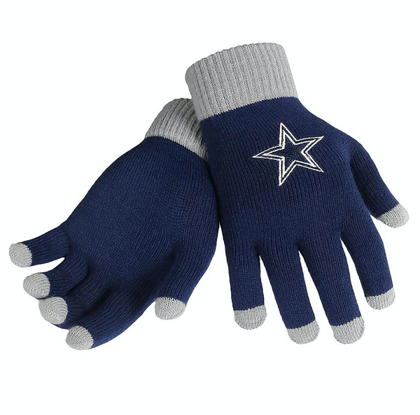 NFL Dallas Cowboys Solid Knit Gloves with Texting Tips
