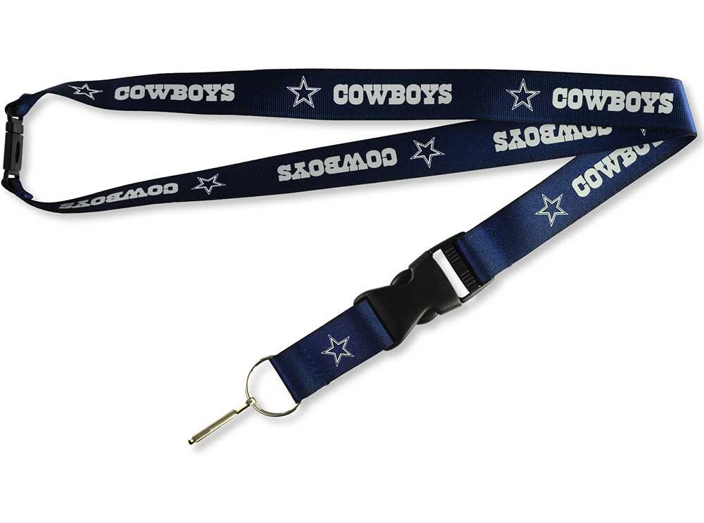 NFL Dallas Cowboys Lanyard with Detachable Clip/Key Ring Blue