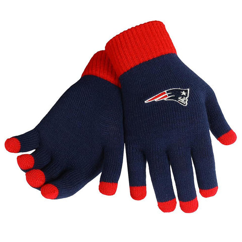 NFL New England Patriots Knit Gloves with Texting Tips