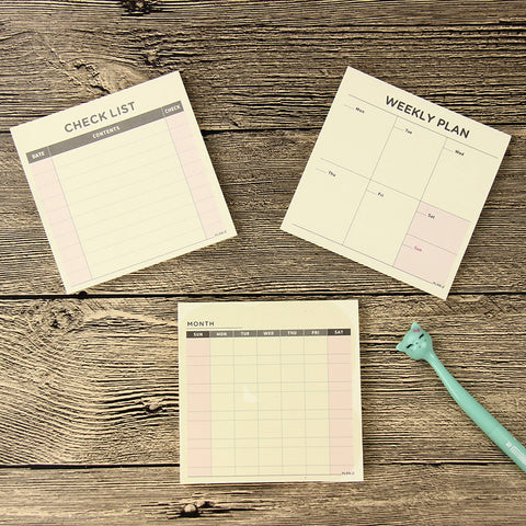 Portable Tear off Planner