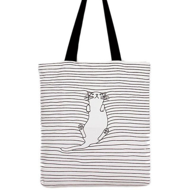 Sleepy Cat Canvas Bag