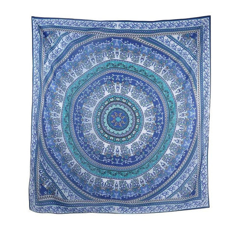 Square Mandala Chiffon Beach Throw