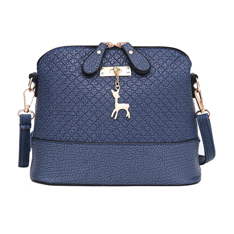 Mini Messenger Bags with Deer Decor Navy