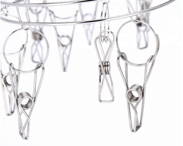 Rectangular Sock Hanger - Stainless Steel 36 pegs