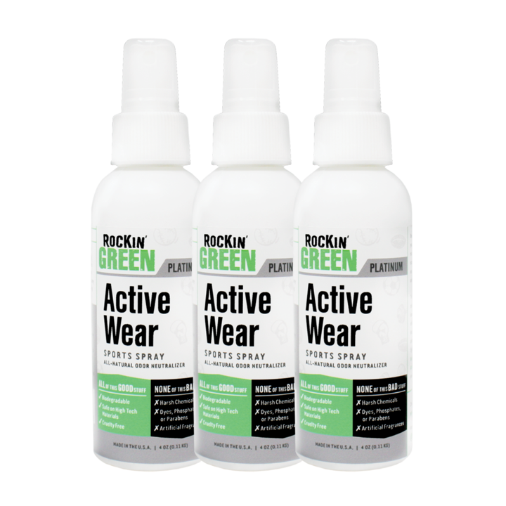 Rockin Green Active Wear Sports Spray - 3 Pack