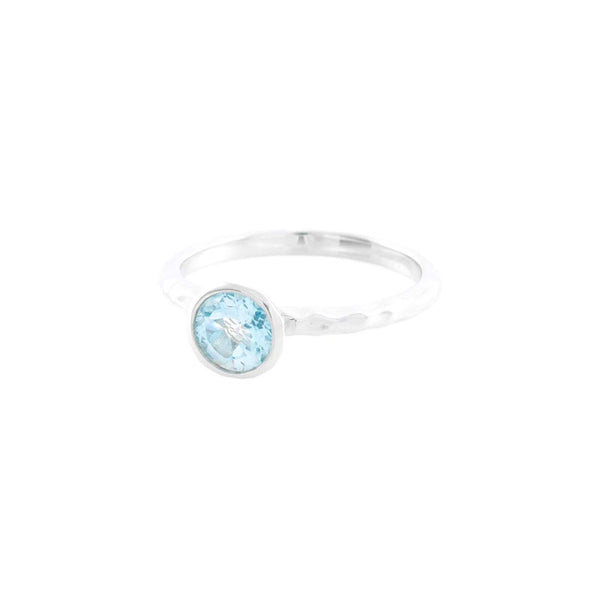 Sky Blue Topaz Stacking Ring - Round
