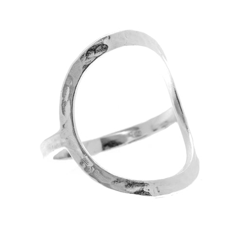 Silver Circle Ring - Hammered