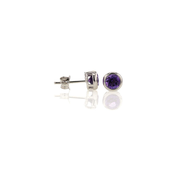 Amethyst Studs for February