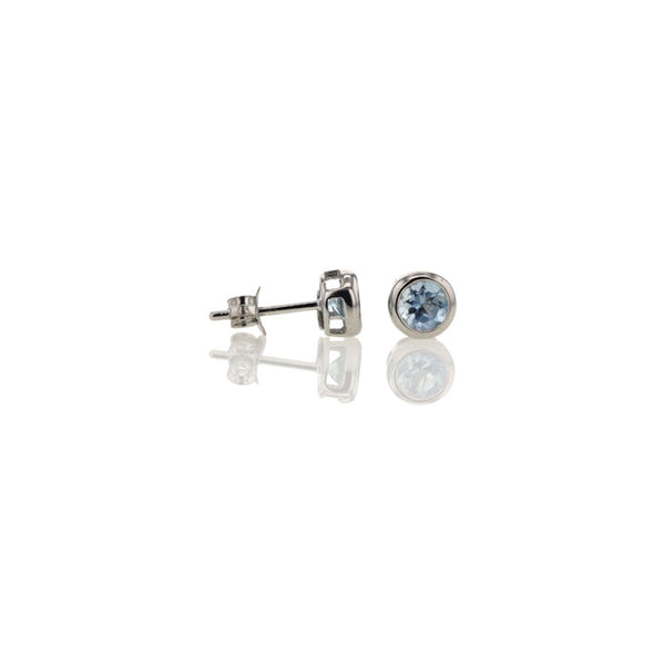 Blue Topaz Studs for Decemeber