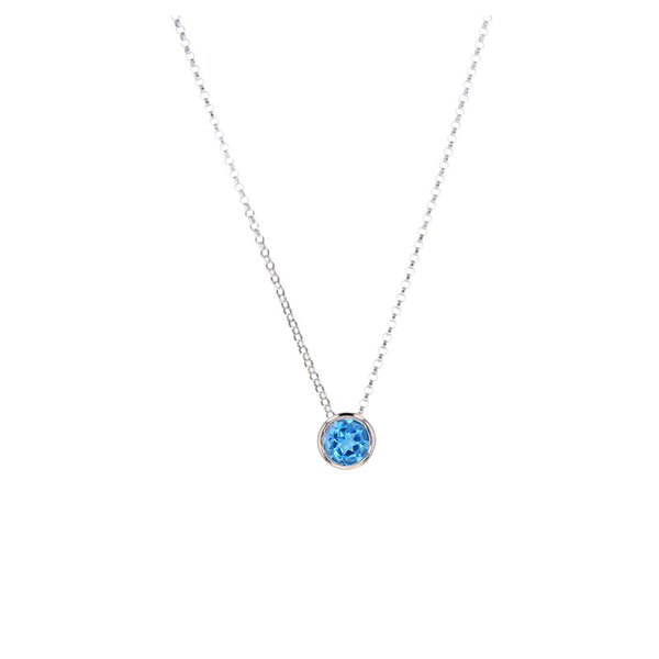 Blue Topaz Pendant for Decemeber