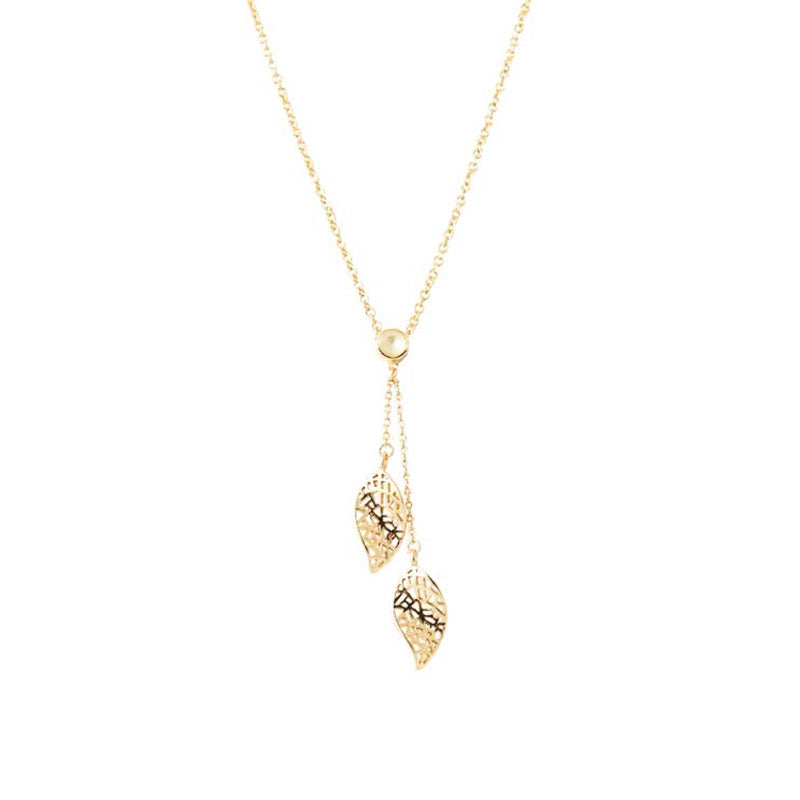 Resilience Necklace - Gold/White Topaz