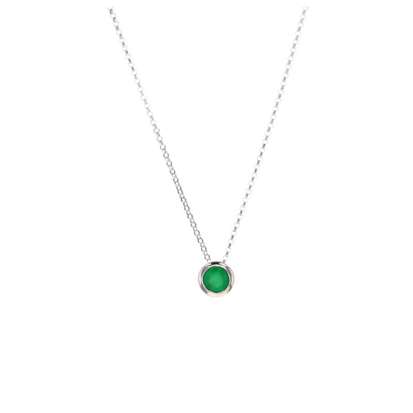 Emerald Pendant Necklace for May