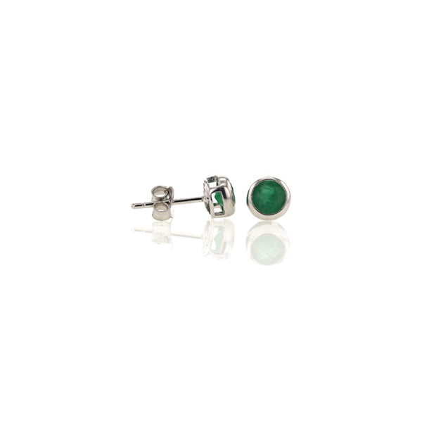 Emerald Studs for May