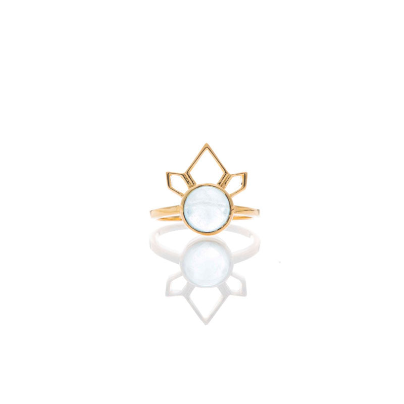 Divinity Ring - Aquamarine/Gold