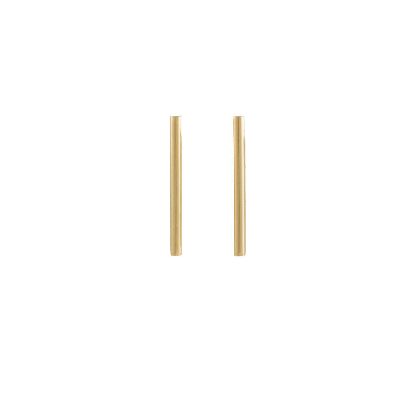 Gold Column Studs (Large)