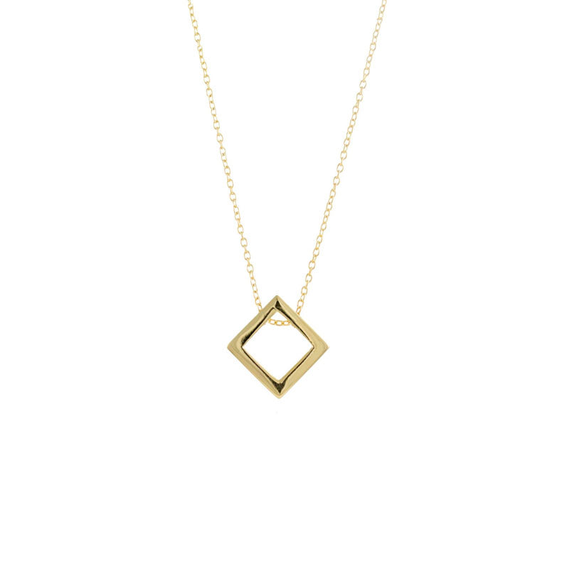 gold gs rose diamond handmade nl with jewelry in white drop pendant square rg necklace