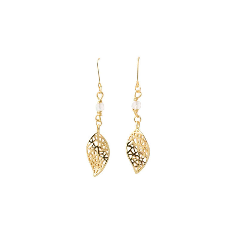 Resilience Earrings - Gold/White Topaz
