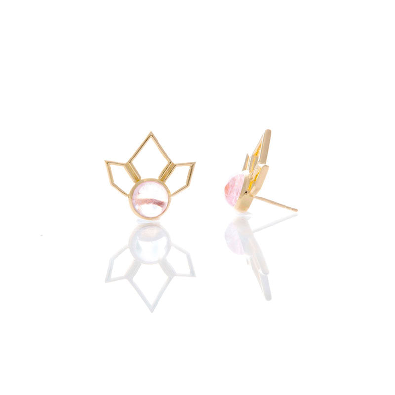 Divinity Stud - Morganite/Gold