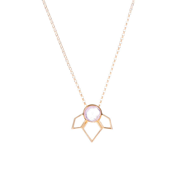 Divinity Pendant - Morganite/Gold