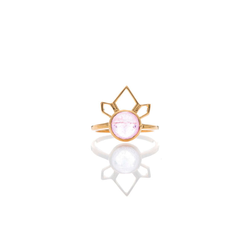 Divinity Ring - Morganite/Gold