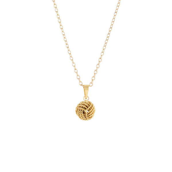 Gold Twisted Love Knot Pendant