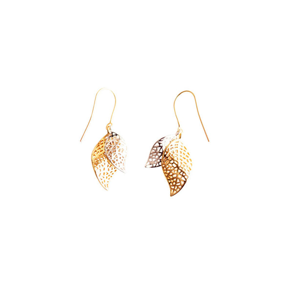 Resilience Earrings - two-tone