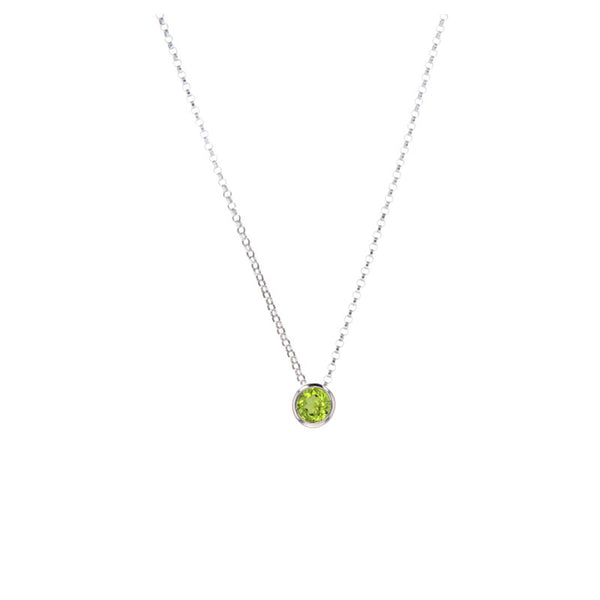 Peridot Pendant Necklace for August