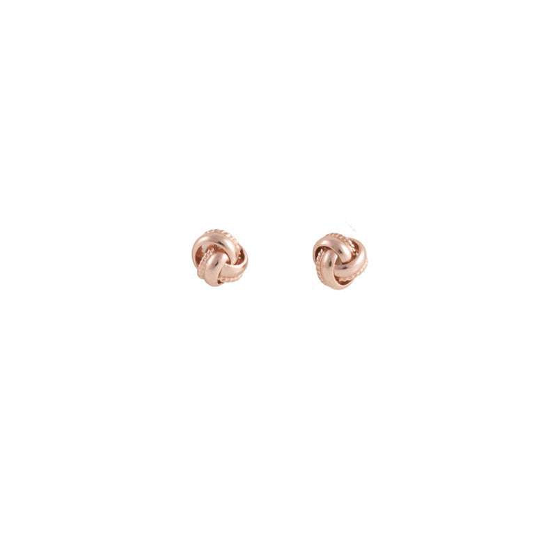 Rose Gold Love Knot Petite Studs