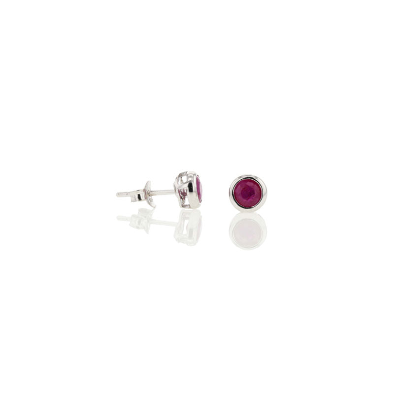 Ruby Studs for July