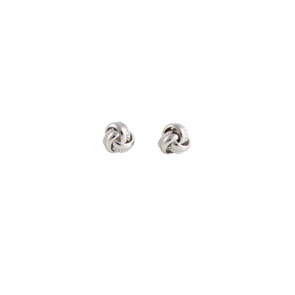 Silver Love Knot Petite Studs
