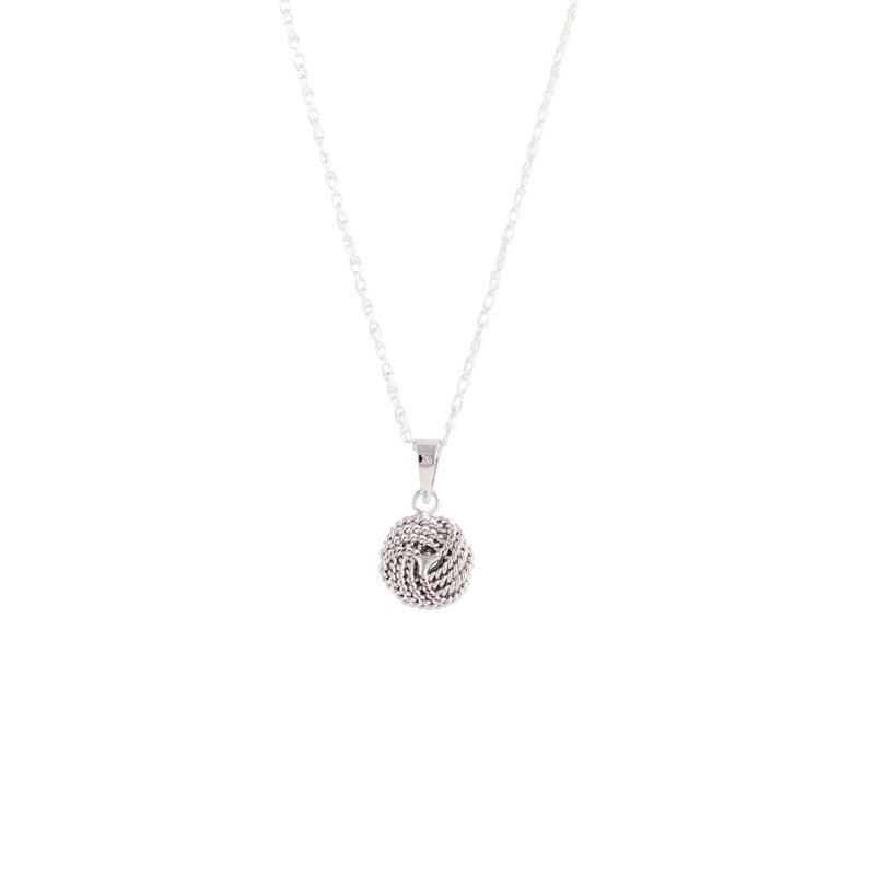 Silver twisted love knot pendant tori taz silver twisted love knot pendant aloadofball Choice Image