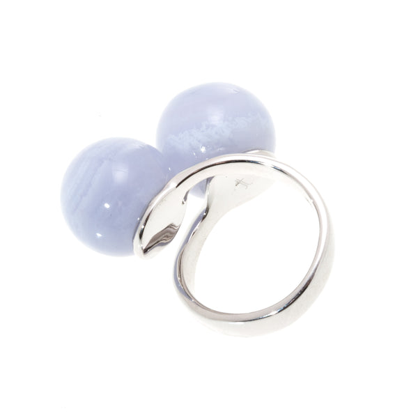 Luna Ring - Blue Lace Agate