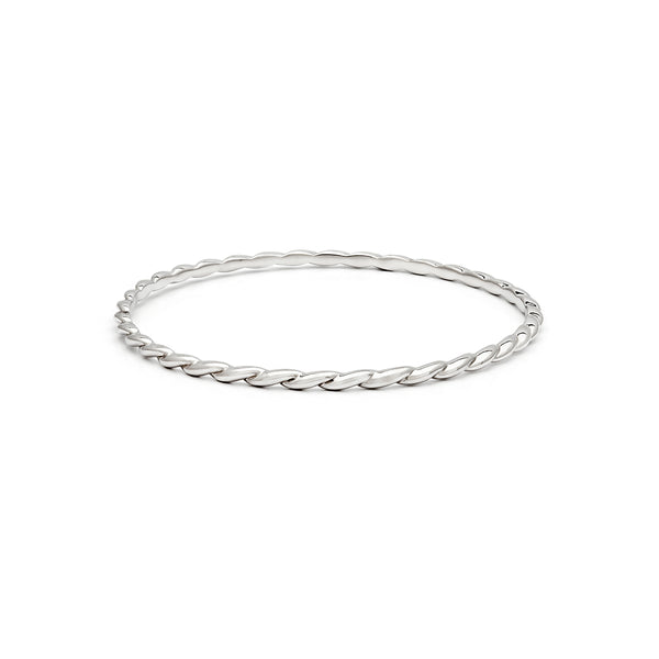 Twist Bangle - Wide Twist
