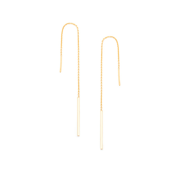 Column Ear Threader (no back) - Gold