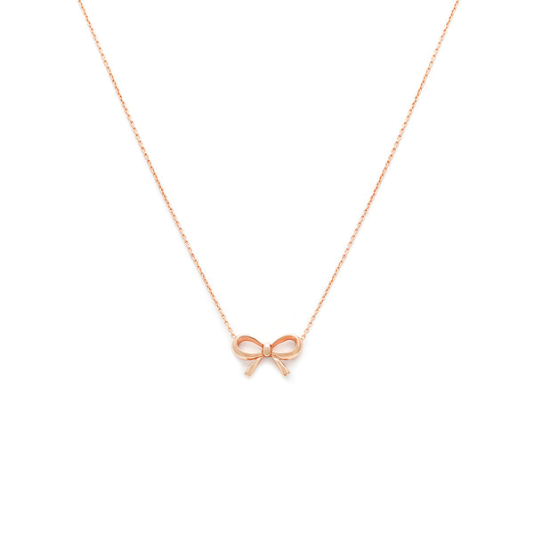 Bow Necklace - Rose Gold