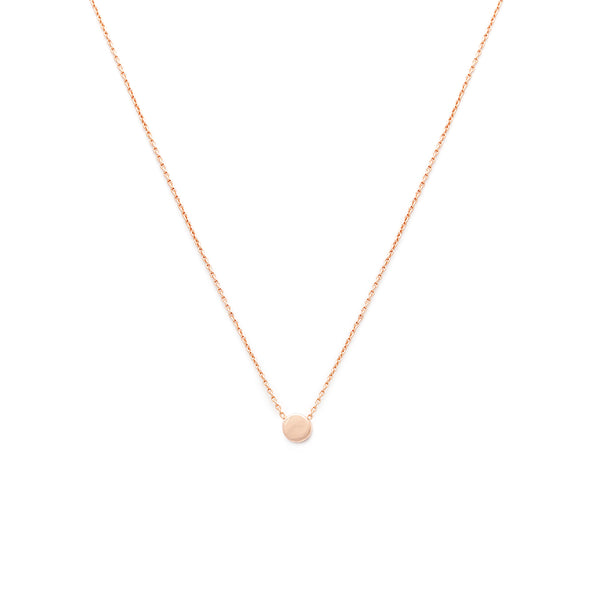 Dainty Dot Necklace - Rose Gold