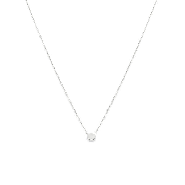 Dainty Dot Necklace - Silver
