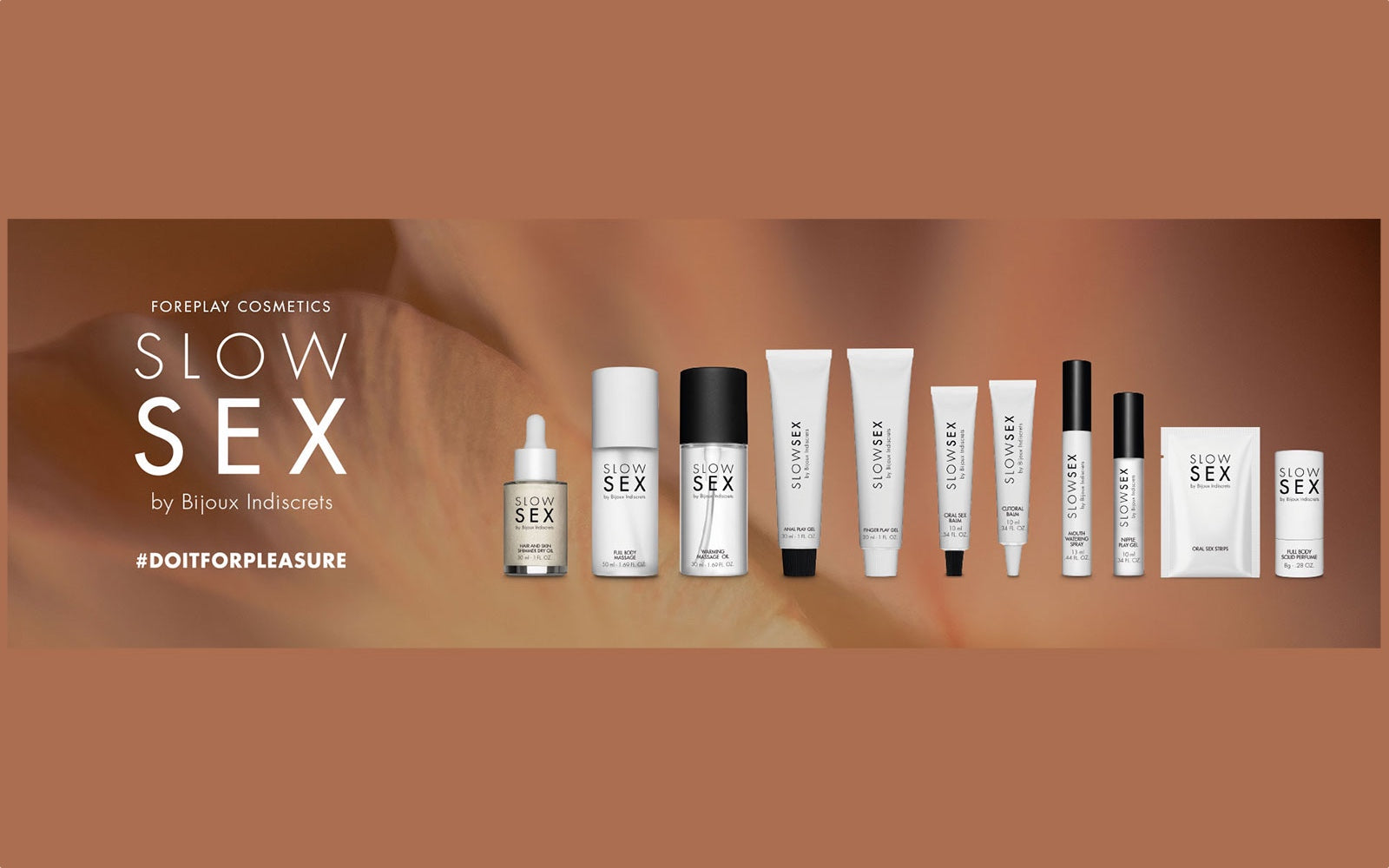 Bijoux Indiscrets Slow Sex Foreplay Cosmetics Line - Rolik®