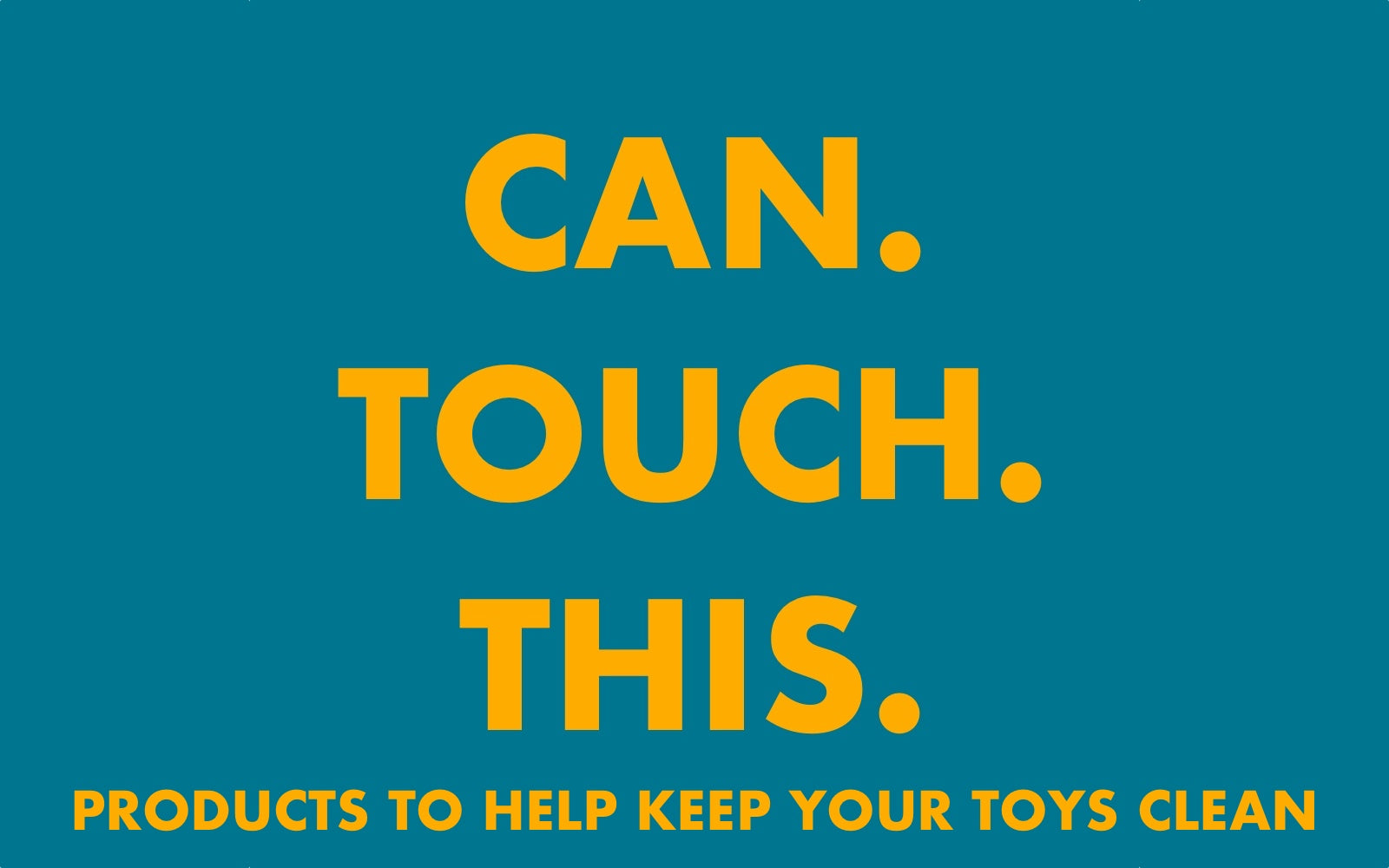 Can.Touch.This. Products to help keep your toys clean - Rolik®