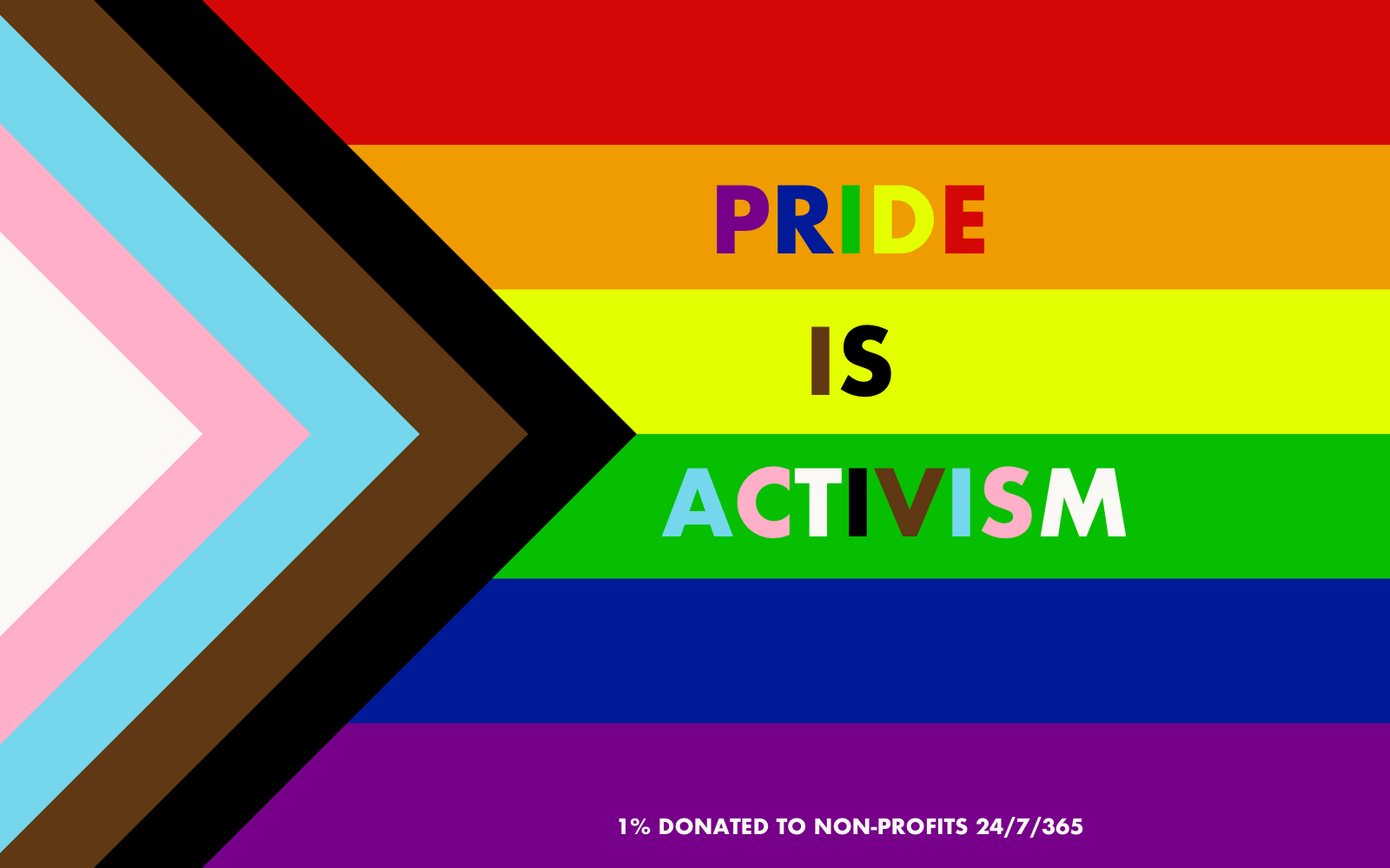Pride is Activism - Pride Products - 1% Donated to Non-Profits 24/7/365 - Rolik®