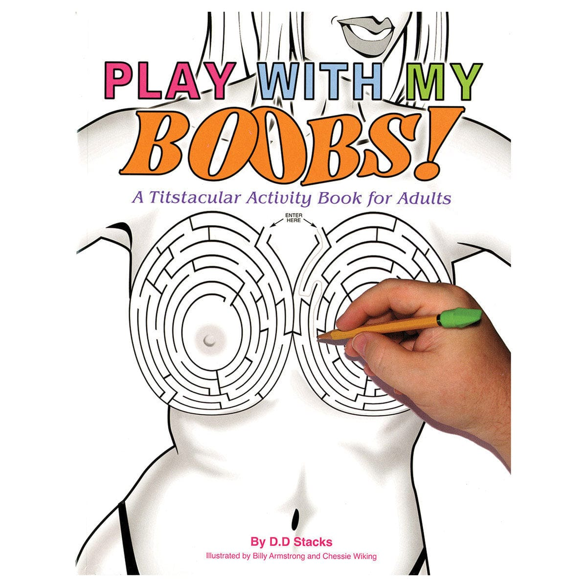 Play with My Boobs! A Titstacular Activity Book for Adults by Aaron Blake Publishers - rolik
