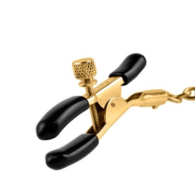Fetish Fantasy Gold Chain Nipple Clamps by Pipedream - rolik