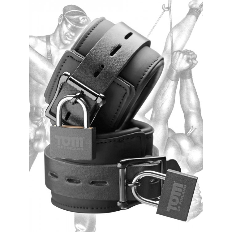 Tom of Finland Neoprene Wrist Cuffs by XR Brands - rolik